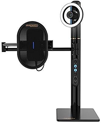 マランツプロ USBコンデンサー・マイクロフォン搭載HDウェブカメラ ヘッドフォン・アンプ搭載 調整可能LEDリングライト Turret